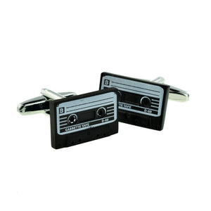 Retro Tape Cassette Design Cufflinks