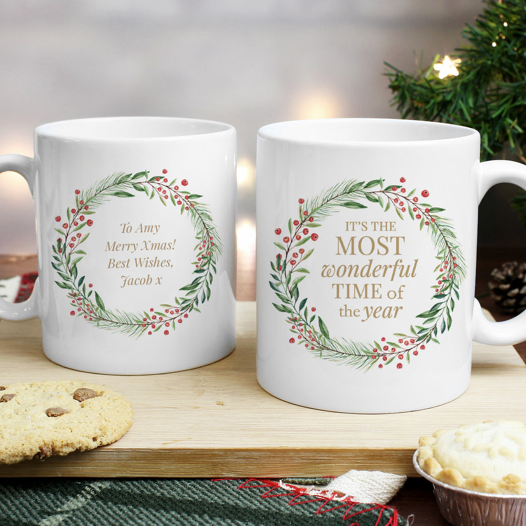 Personalised It's The Most Wonderful Time Of The Year Mug
