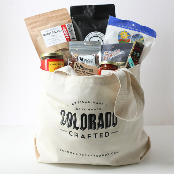 Colorado Gift Basket brimming with artisanal food