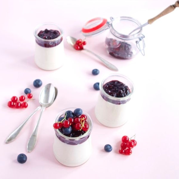 Panna Cotta with Strawberry Lavender Preserves