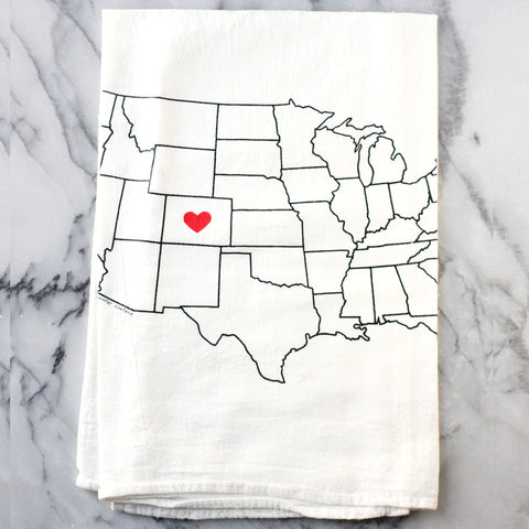 Colorado Heart Tea Towel.