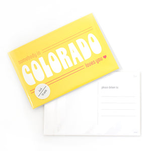 Somebody in Colorado Loves You Postcard Set