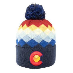 Colorado Mountain Rainbow Beanie