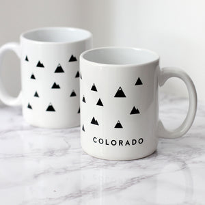 Colorado Modern Mountain Mug (White).