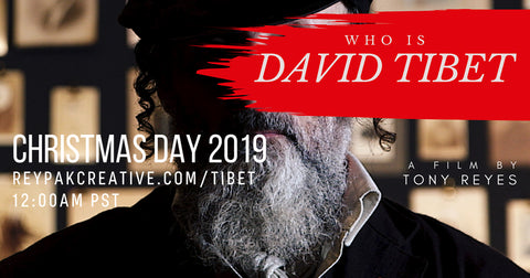 "DAVID'S FIRST 2 SOLO ALBUMS TO BE RELEASED; ""WHO IS DAVID TIBET?"" FILM AVAILABLE FOR FREE STREAMING ON CHRISTMASS DAY"