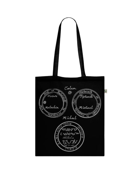 David Tibet Archangel Michael (Black) Tote Bag