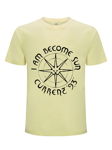 C93 I Am Become Sun T-shirt - Unisex (Pale Lemon)