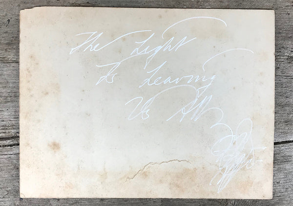 The Light Is Leaving Us All - Large Cabinet Card 65