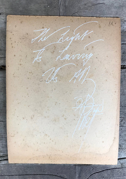 The Light Is Leaving Us All - Cabinet Card (165x210mm)