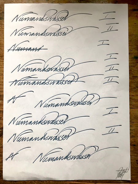 Scribbles, Scrawls, And Signs: Niemandswasser