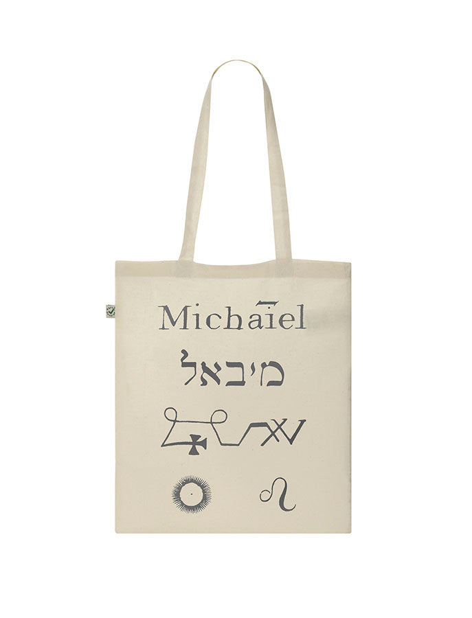 David Tibet Archangel Michael (White) Tote Bag