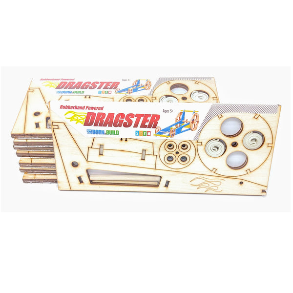 Rubberband Dragster science kit