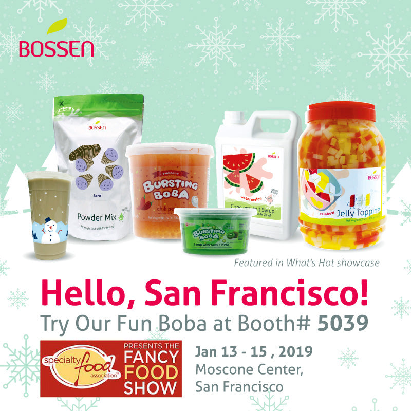 Winter Fancy Food Show January 13-15, 2019 Bossen Booth 5039