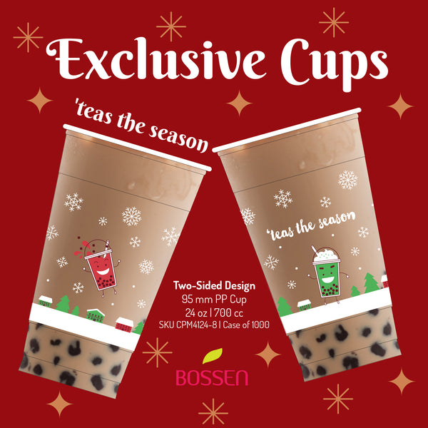 'teas the season Holiday Bubble Tea Cup 95mm by Bossen