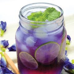Cold Butterfly Pea Flower Tea Brew