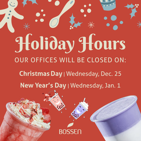 Bossen Holiday Hours