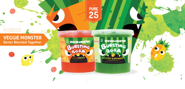 Popping Bursting Boba Pure25 Veggie Monster