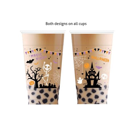 Halloween Limited Edition | Pp Plastic Cups (95Mm) Straws And Packagings