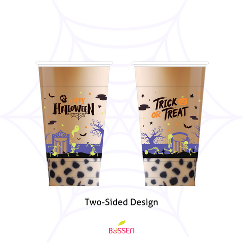 Halloween PP Plastic Cups (95mm) 2019 - Two Sided Design
