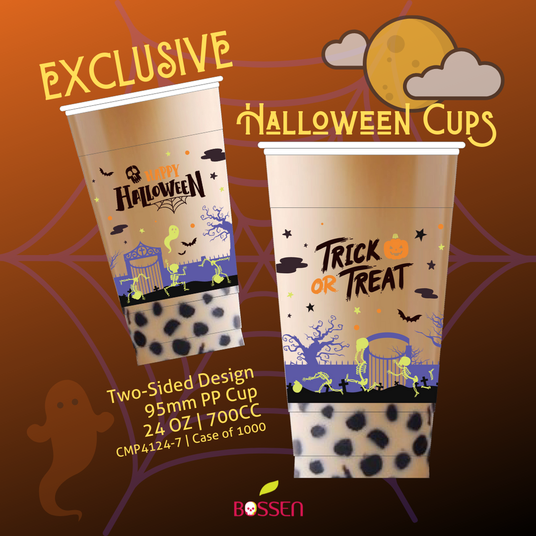 Halloween PP Plastic Cups (95mm) 2019 - Two Sided Design promotional