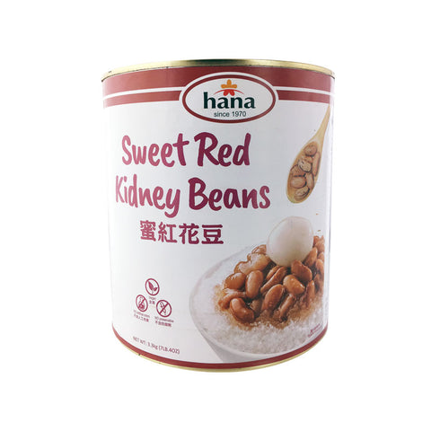 sweet red kidney beans can