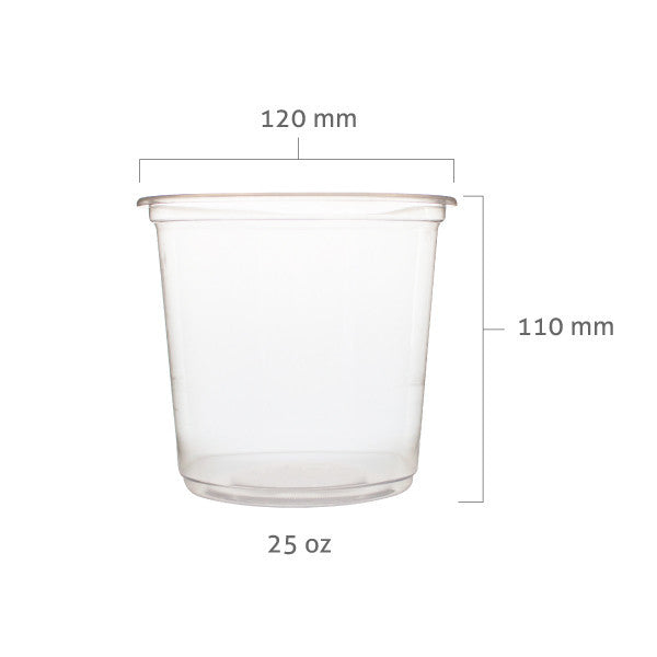 PP Plastic Jumbo Cups (120mm) - wide bottom