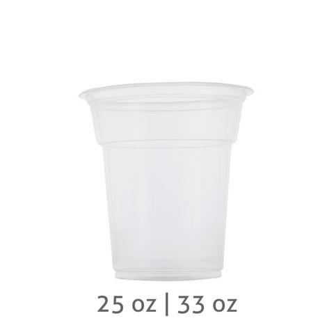 PP Plastic Jumbo Cups (120mm) - 25 oz / 33 oz