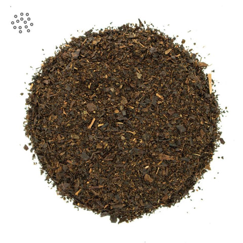 Ground Earl Grey Tea closeup