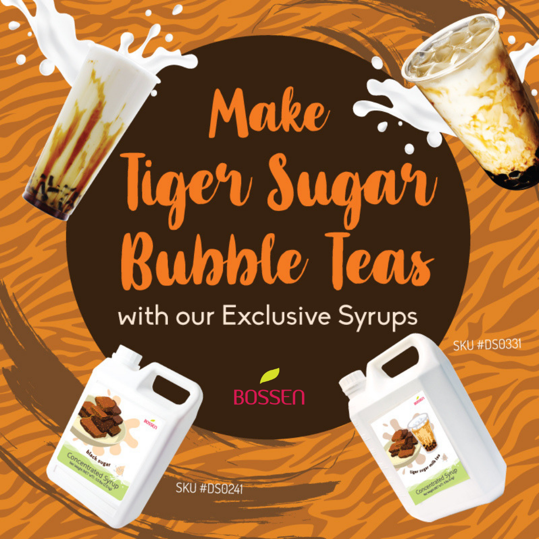 Tiger Sugar Milk Tea Syrup promotional - Bossen