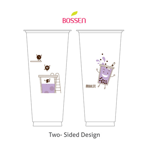 #bobalife Pool Party PP Cup for Bubble Tea by Bossen - V660 90mm design