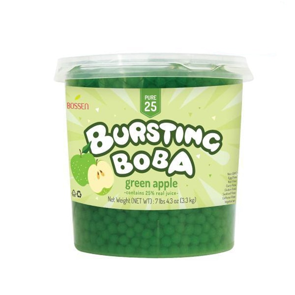 Green Apple Bursting Boba® Pure25 Boba - Bossen