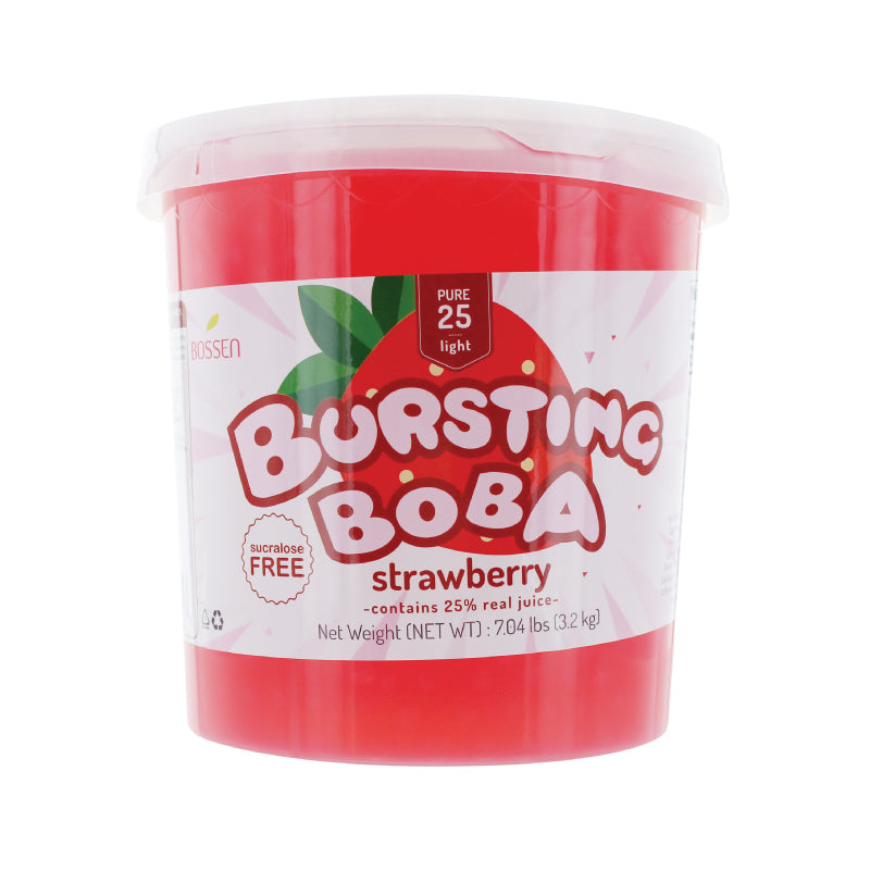 Strawberry Bursting Boba® Pure25 |  New Formula