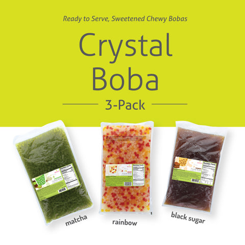 Crystal Boba Three Pack Sample by Bossen