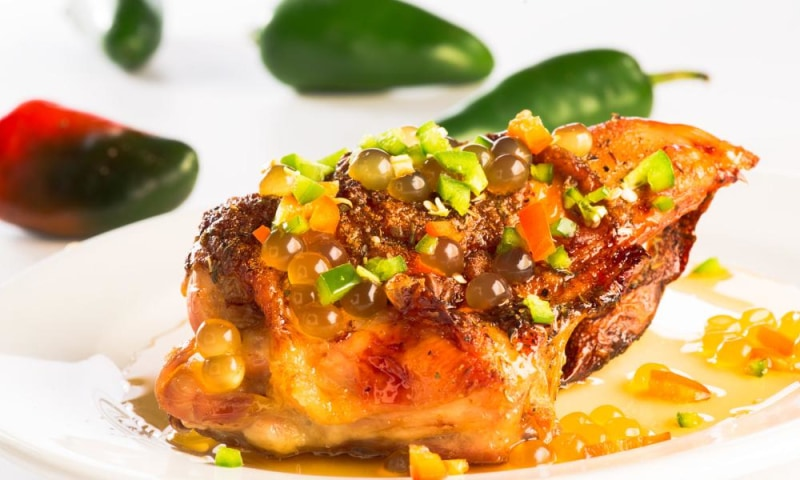 Honey Bursting Boba® on jalapeno chicken - BossenStore.com