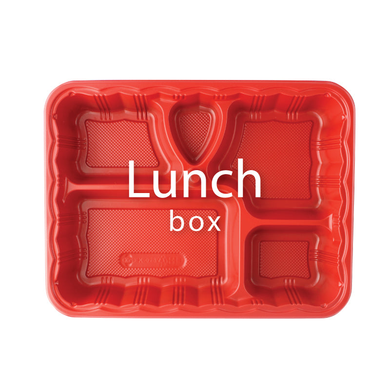 Plastic To-Go Lunch Box Container
