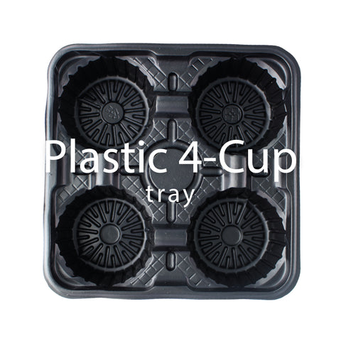 Plastic 4 Cup Holder Tray