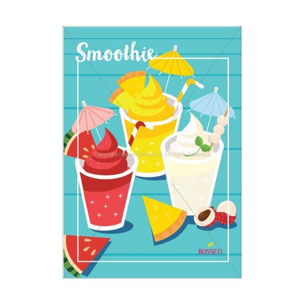 Bossen Smoothie Poster - Illustration Pos Marketing Materials