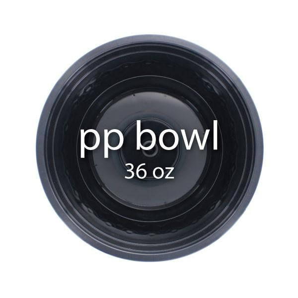 Black PP Bowl (36 oz) - BossenStore.com  - 1