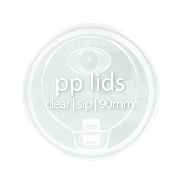 PP Clear Sip Lids (90mm)