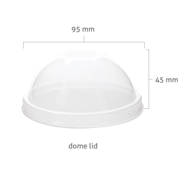 PET 95mm Flat Cup Lids