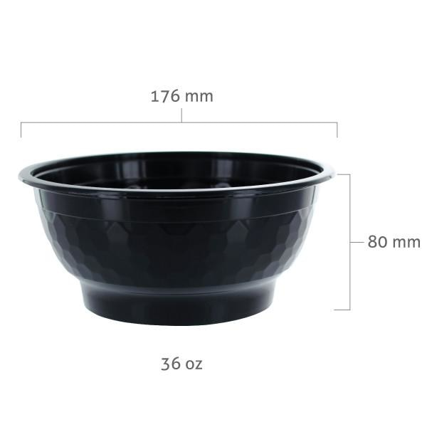 Black PP Bowl (36 oz) - BossenStore.com  - 2