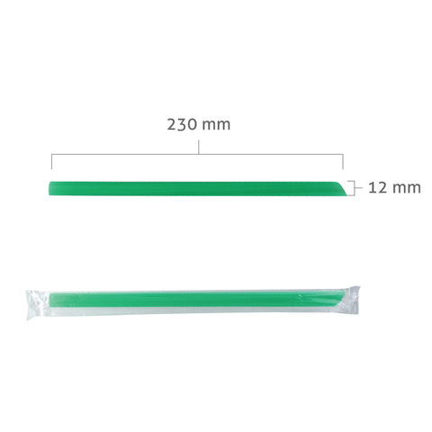 Extra Long Boba Assorted Straws, Individually Plastic Wrapped (12mm x 23cm)