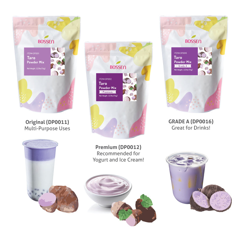taro powder comparison