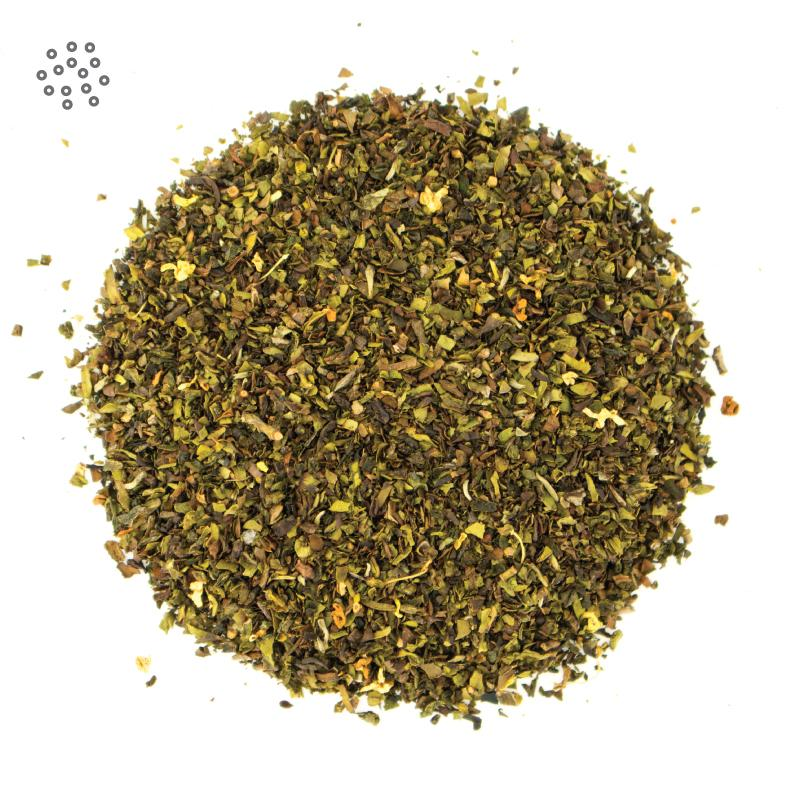 Ground Osmanthus Oolong Tea closeup