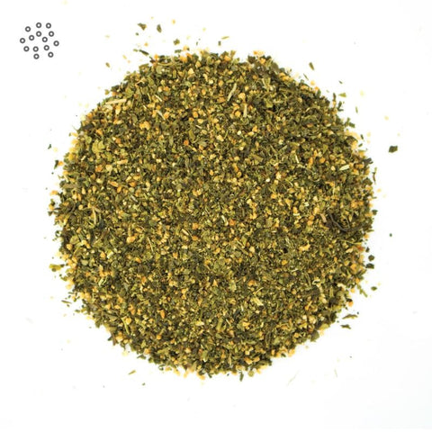 Ground Genmaicha Tea closeup