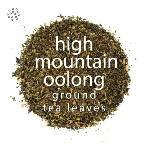 Ground High Mountain Oolong Tea Leaves