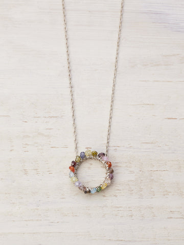 Karma Circle Necklace - Mixed Gems