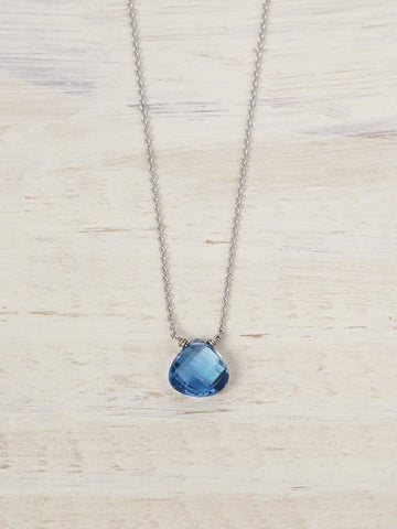 14K London Blue Topaz Gem Necklace - LUNESSA