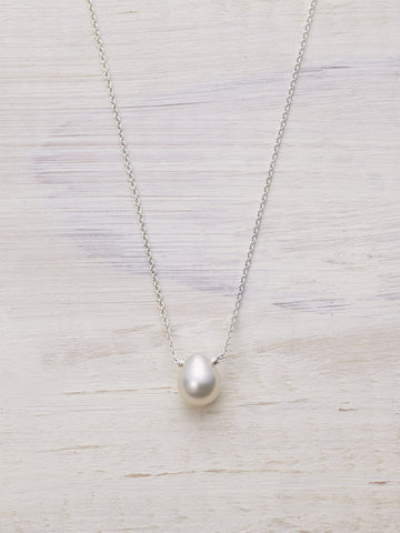 Pearl Raindrop Necklace - LUNESSA