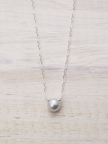 Single Freshwater Pearl Drop Necklace - LUNESSA